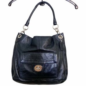 Coach Black Leather Large Tote F15687